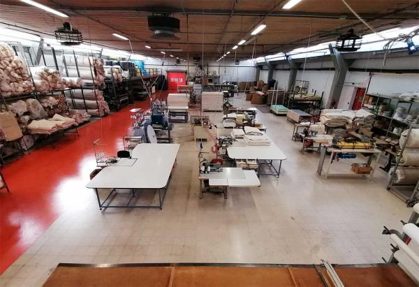 Area produzione materassi sede di Zanè